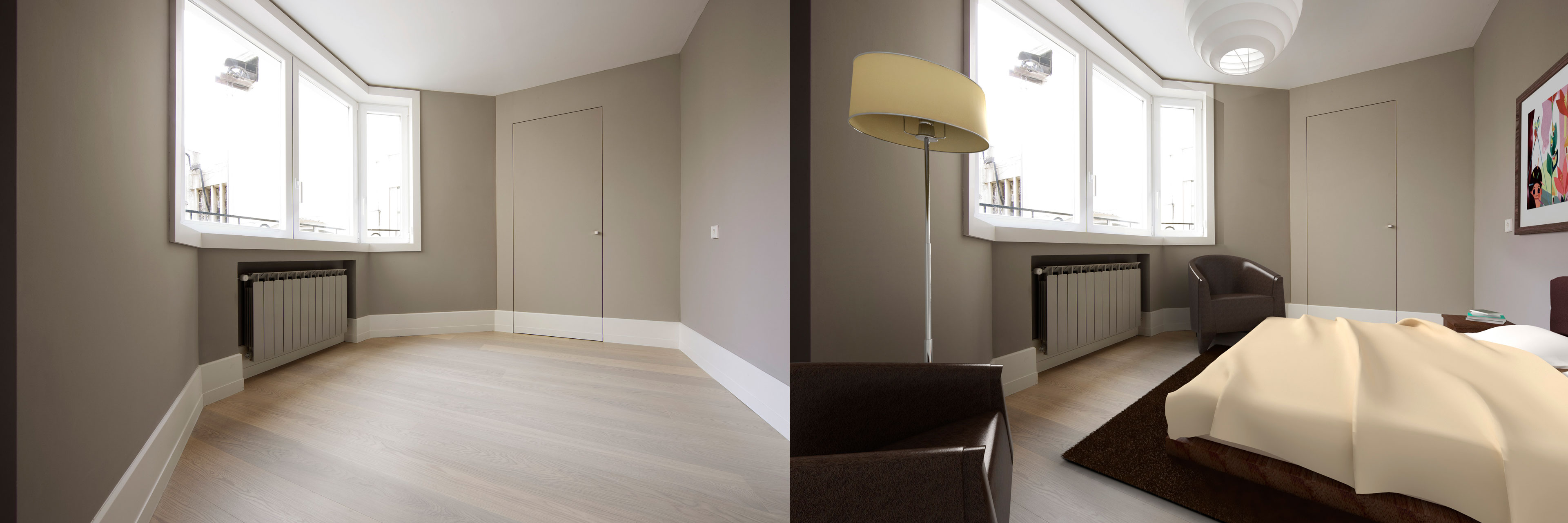 home staging virtual antes después dormitorio exemple