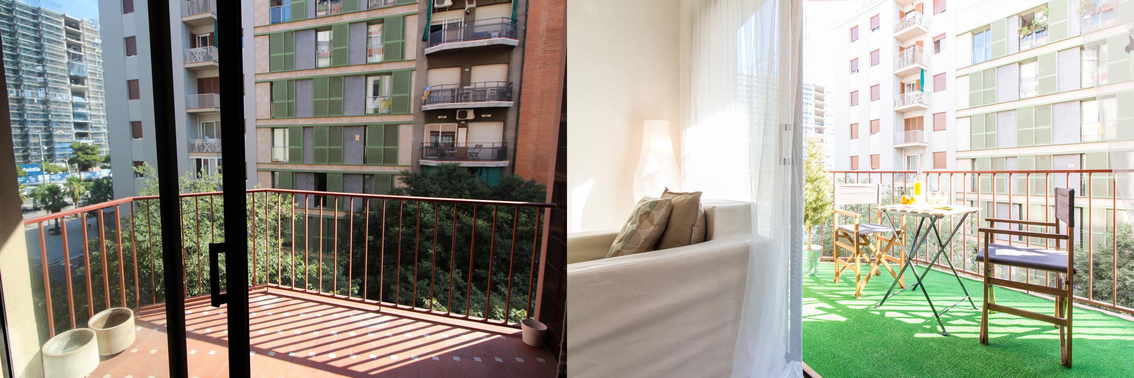 Home staging barcelona balcón