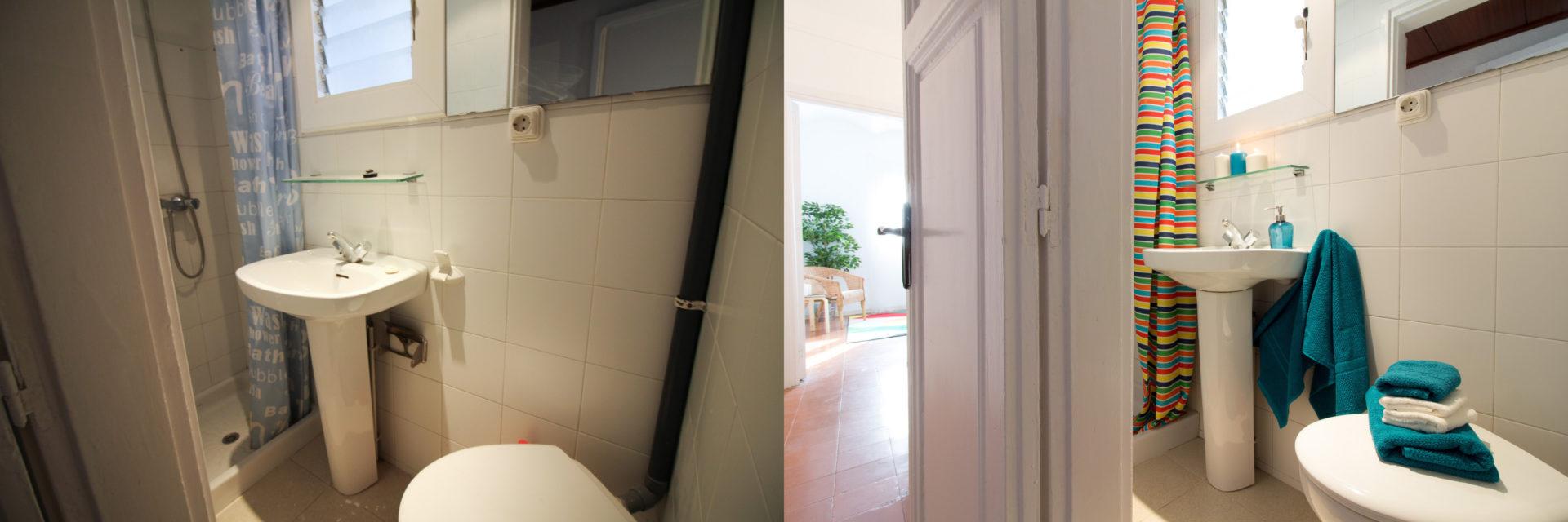 proyecto home staging baño gracia barcelona