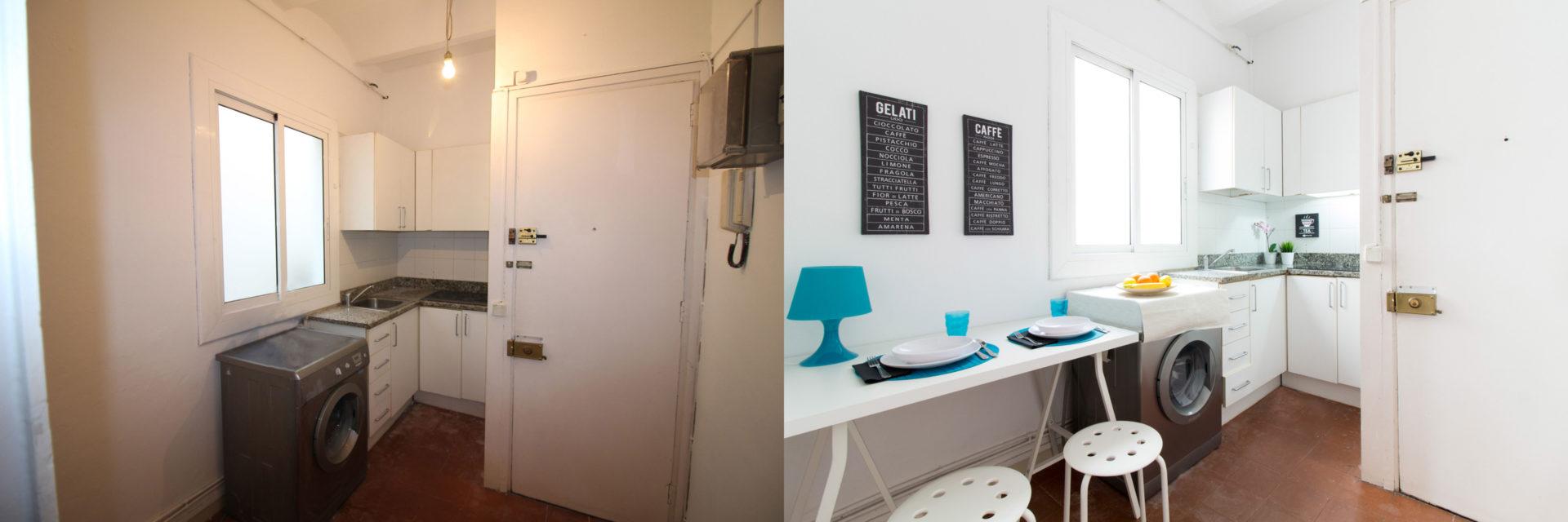 proyecto home staging cocina gracia barcelona