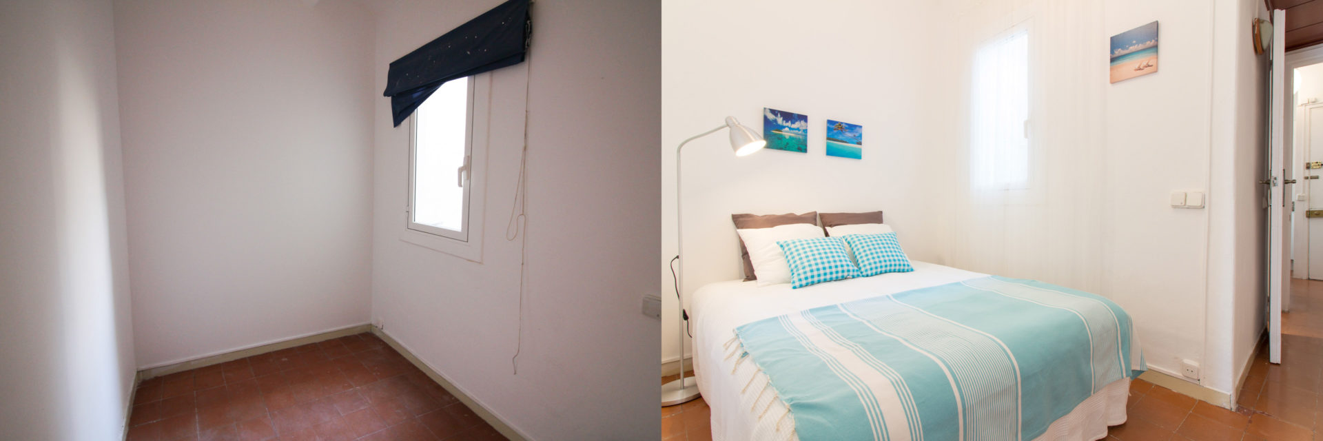 proyecto home staging barcelona dormitorio cama inflable