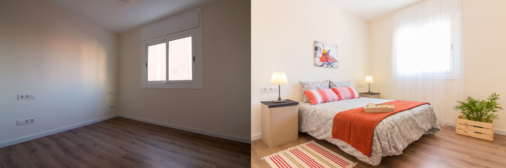 home staging dormitorio ejemplo barcelona
