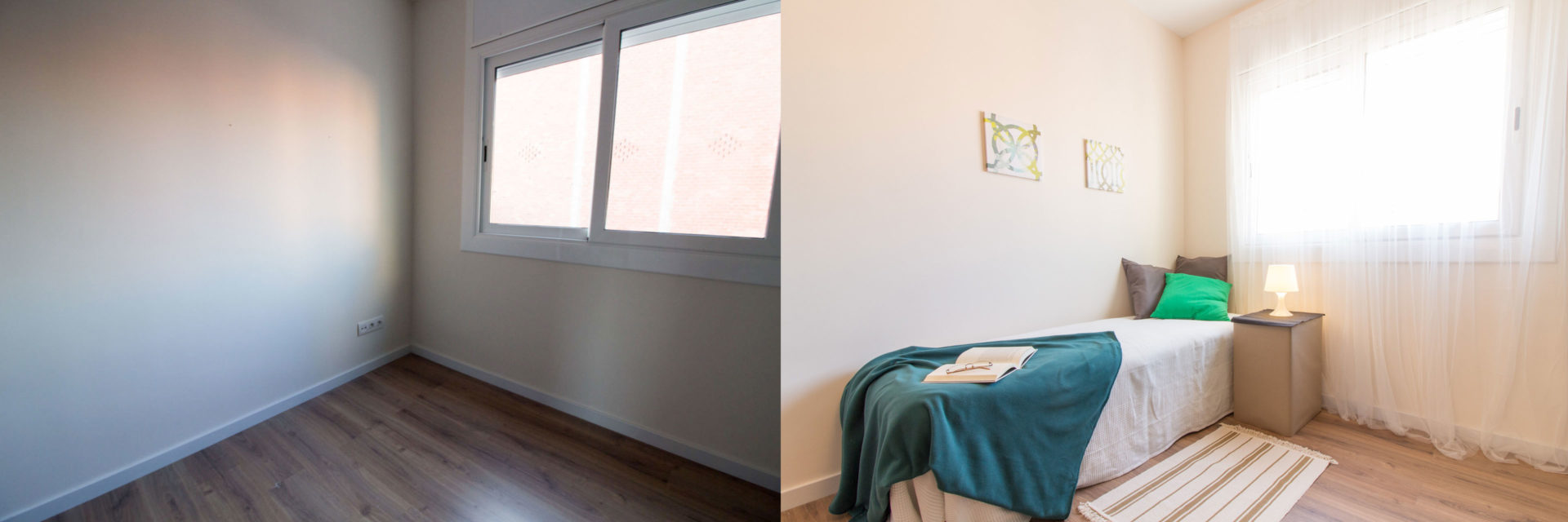 home staging antes-despues habitacion
