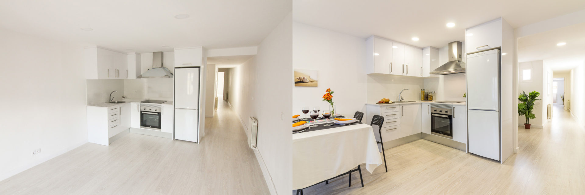 home staging raval comedor foto antes despues