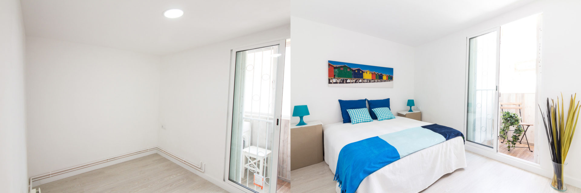 home staging raval dormitorio carton foto antes despues