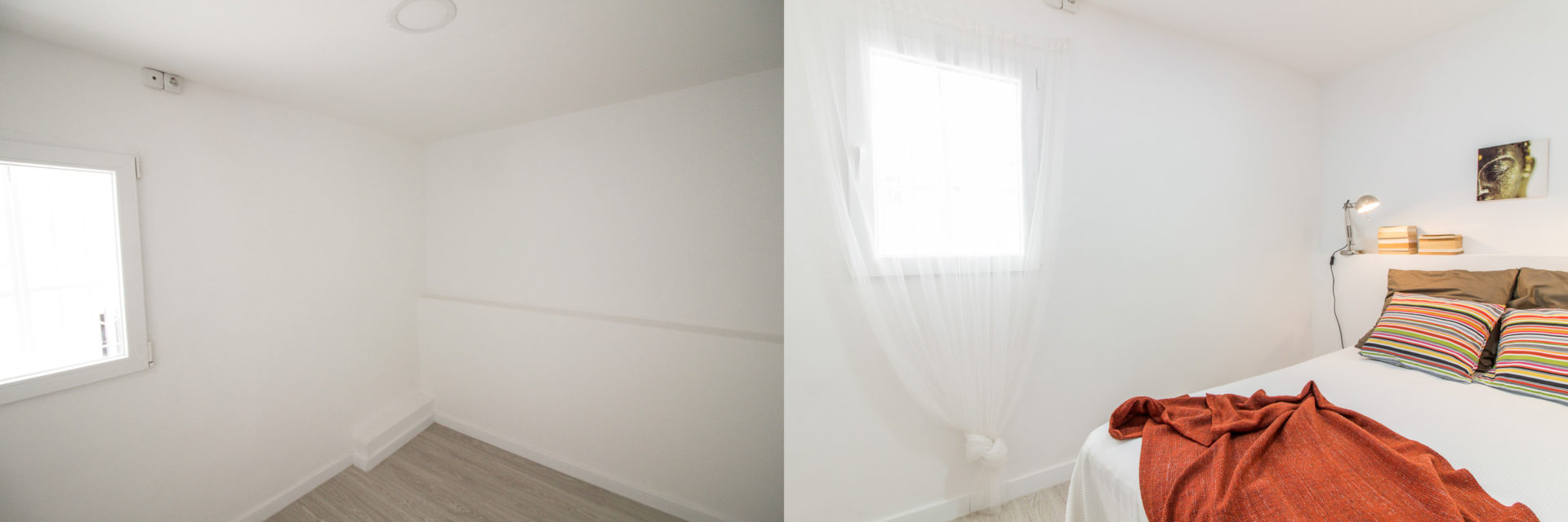 home staging raval dormitori cartro finestra foto abans despres
