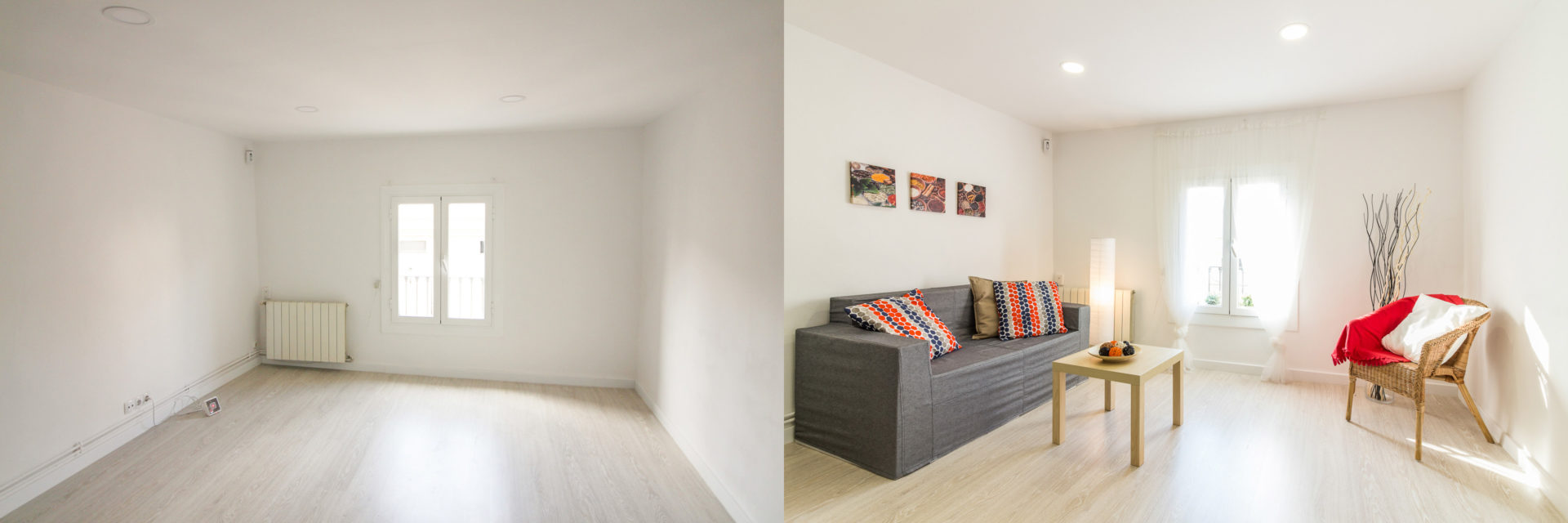 home staging raval salon carton foto antes despues