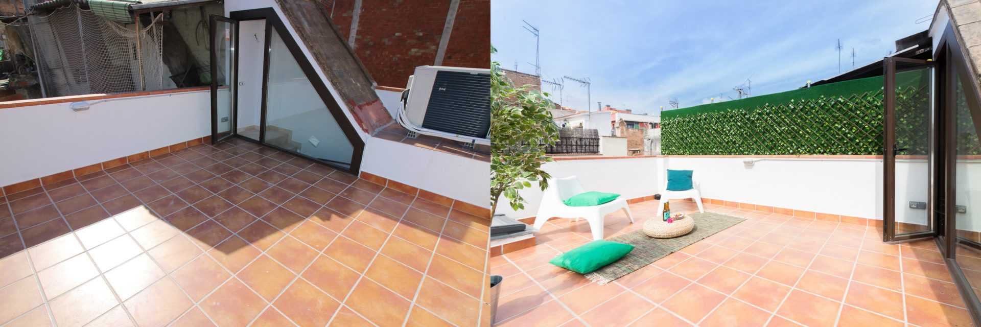 home staging terraza raval barcelona antes despues