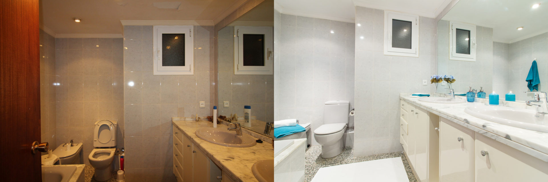 impuls home staging baño antes y despues